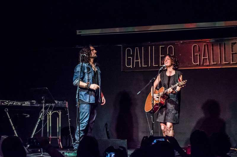 Fran Fernandez y Vicky Gastelo en Galileo Galilei, foto de Noa AP